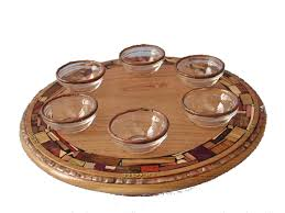 the passover plate wooden pesach plate a passover plate that turns etz