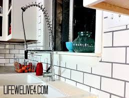 diy subway tile backsplash for the kitchen starter home remodel
