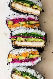 cuisine japonaise santé onigirazu sushi sandwich recette asiatique cuisines et recettes