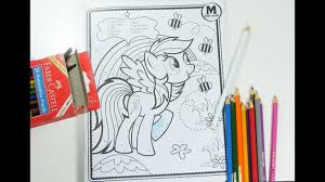 rainbow dash coloring for kids mlp coloring pages for children my