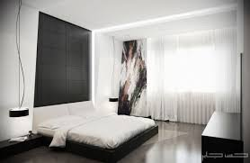 white elements modern master bedroom design with white modern