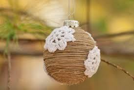 diy rustic twine and doily ornaments factory direct