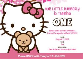 kitty invitation card birthday party terrific