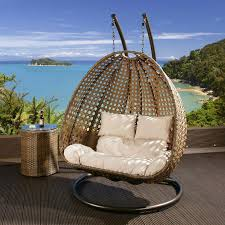 Good Rattan Specification Outdoor 2 Person Garden Hanging Chair Brown Rattan Rattan And