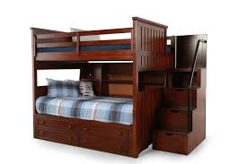 twin over full bunk bed with trundle and stairs in captivating