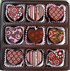 valentines chocolate heart shaped truffle assortment 9 chocolate