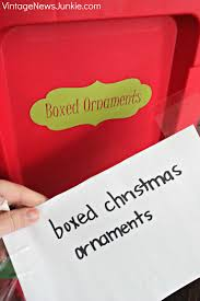 simple storage solutions for your christmas ornaments u0026 a