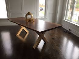 walnut dining table base live edge dining room tables toronto