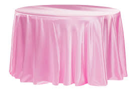 Satin 132 Inch Round Tablecloth Medium Pink At Cv Linens Cv Linens