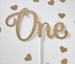 one cake topper one cake topper glitter gold 1st birthday cake topper smash
