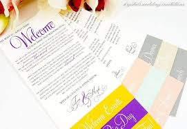Wedding Itinerary For Guests Wedding Itinerary Welcome Cards For Hotel Guests
