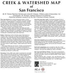 Map Of San Francisco by Creek U0026 Watershed Map Of San Francisco