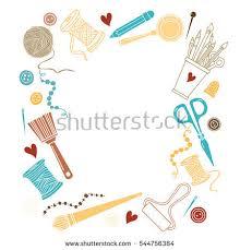 arts crafts sewing hand drawn supplies stock vector 544756384