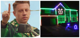 Halloween House Light Show by Someone Has Turned Macklemore U0027s U0027downtown U0027 Into A Horrific