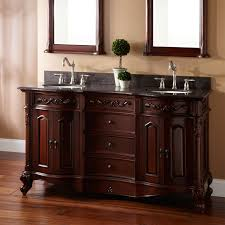 Red L Shaped Vanity Cabinet Double Sink Freestanding Vanity Signature Hardware