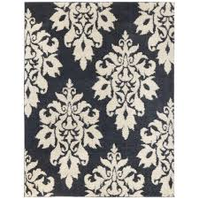 home decorators area rugs home decorators collection meadow damask blue 4 ft x 6 ft area