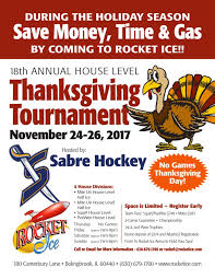 rocket hockey rink annual thanksgiving tournament