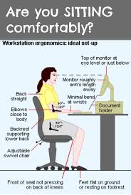 are you sitting comfortably are your desk computer and chair