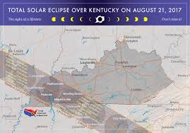 Ohio Kentucky Map by 2017 Total Solar Eclipse In Kentucky