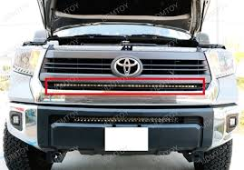 2014 tundra led light bar led light bar in grill and 1 piece lower bumper mount for 2014 up