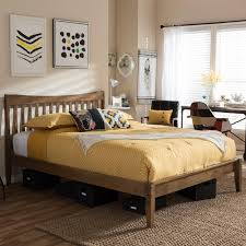 baxton studio beds u0026 headboards bedroom furniture the home depot