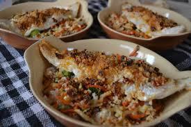 cuisiner du merlu filets de merlu au crumble de chorizo et parmesan les gourmandises