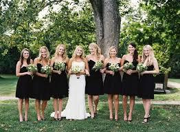 black and bridesmaid dresses bridesmaids in black or just