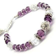 swarovski jewelry bracelet images Amethyst bracelet swarovski crystal purple eggplant jewelry jpg