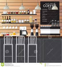 Coffee Shop Floor Plans Free Coffee Shop Design Loft Stock Vector Image 69500610