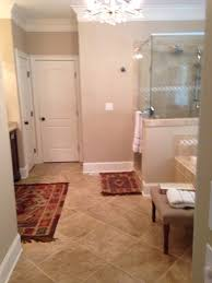 Rug In Bathroom Master Bath Rug Size And Placement