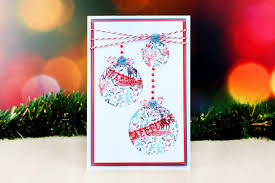 die cut christmas baubles card hobbycraft blog