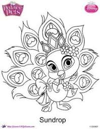 princess coloring pages swirling dresses tegninger