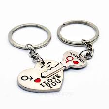 love key rings images I love you key chain unique design lock and key sweetheart key jpg