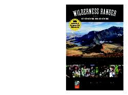 bureau service national wilderness ranger cookbook a collection of backcountry recipes