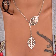 s day jewelry gifts wholesale new fashion jewelry chain link leaf pendant