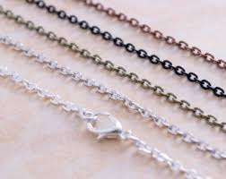 charm necklace chain silver images Charm necklace chain etsy jpg