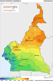Map Of Cameroon Map Showing The Irradiation Pattern Across Cameroon 20 Figure