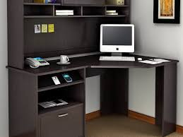 home office furniture wall units office storage interior long brown wooden corner desk with inside