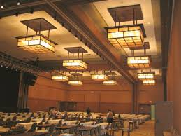 arts u0026 crafts style lighting brings warmth to a large hotel and