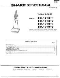 sharp sharp vacuum cleaner parts model ec12txt7 sears partsdirect