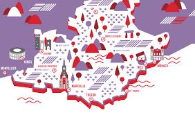 Provence Map Provence Ingamba