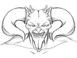 Scary Coloring Pages Devil Face Coloringstar Scary Coloring Paes