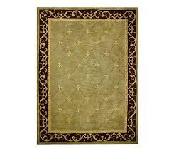 royal palace heritage fleur de lis 8 u0027 x 11 u0027 handmade rug page 1