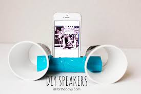 theme week diy speakers u2014 all for the boys