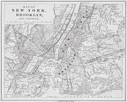 map of new york ny ny 1868 map new york ny black and white photograph by