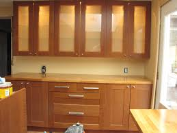 glass fronted kitchen cabinets with white modern cabinet front