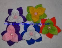 membuat kerajinan bros cara membuat bros bunga cantik dari kain flanel