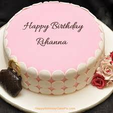 pink birthday cake rihanna