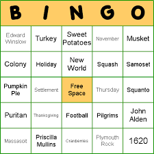 how to play thanksgiving bingo