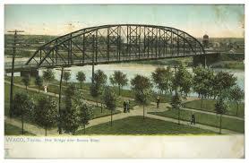 Waco Map Waco Texas New Bridge Over Brazos River The Portal To Texas